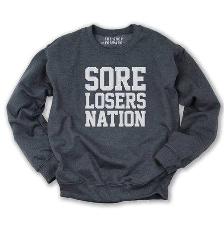 Sore Losers Nation Unisex Pullover - Charcoal