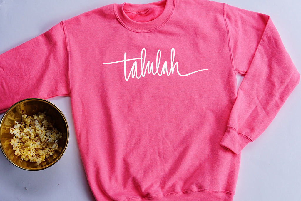 Talulah Unisex Neon Pink Pullover