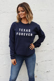 Texas Forever® Unisex Fleece Pullover - Navy