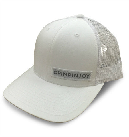 White #PIMPINJOY Hat