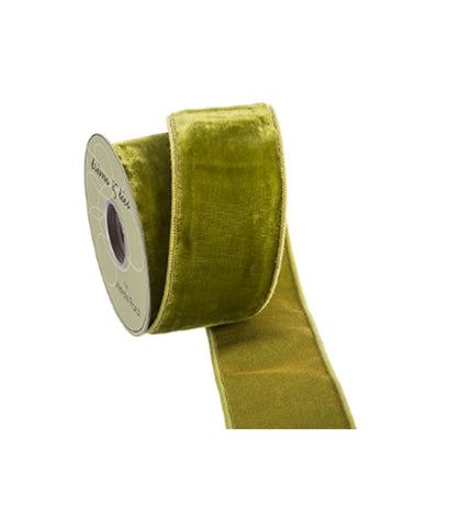 Moss Green Velvet Ribbon