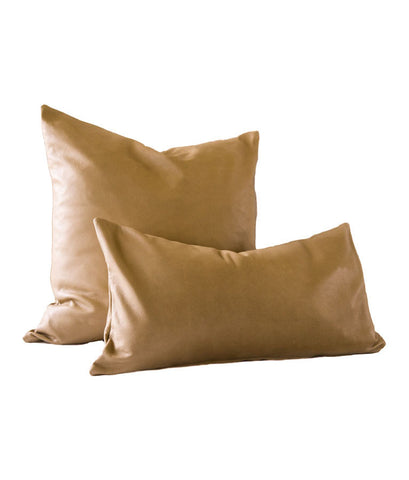 Caramel Leather Pillow Cover