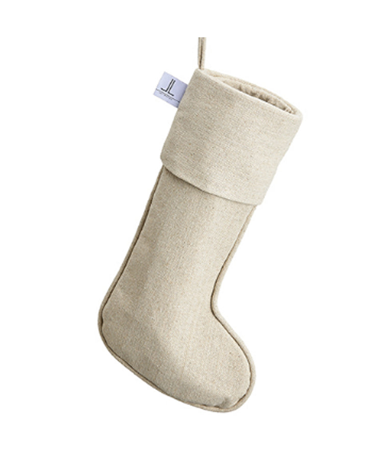 Beige Linen Stocking