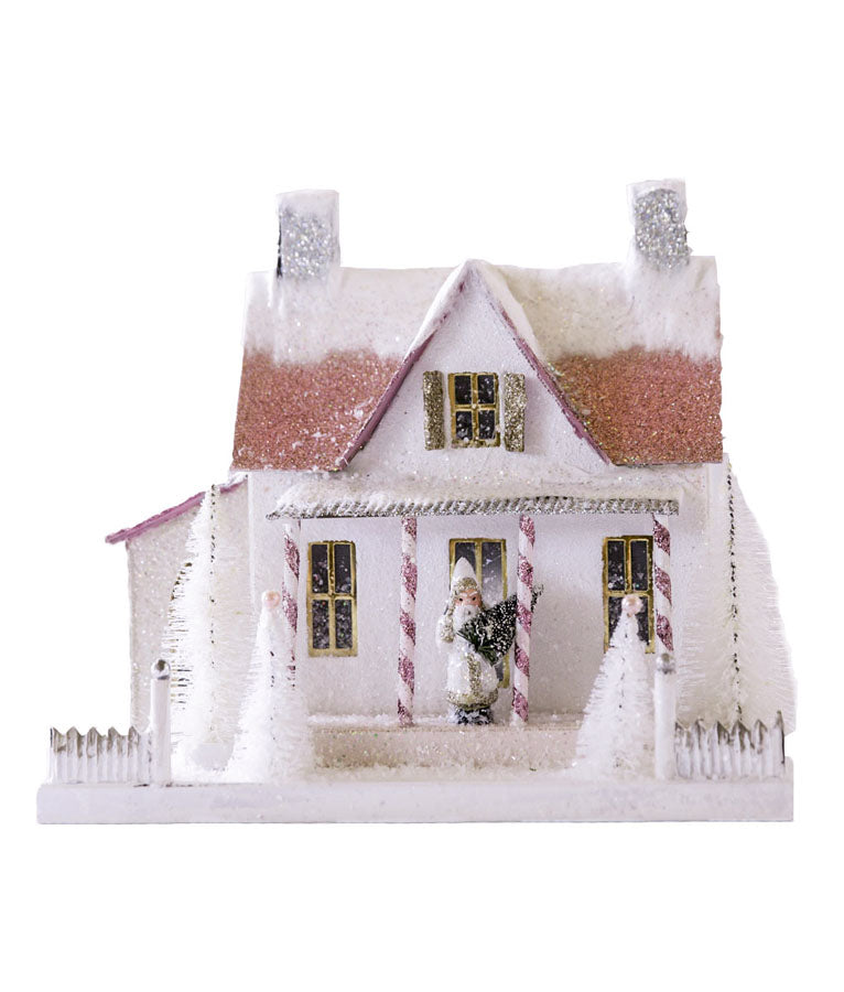Festive Frosted Farmhouse