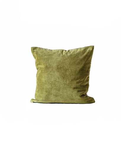 Green Cotton Velvet Pillow Cover