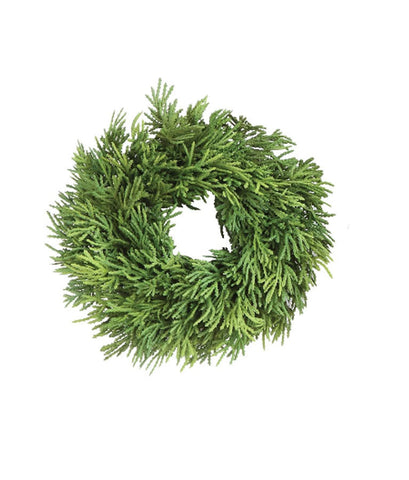 Faux Cedar Wreath