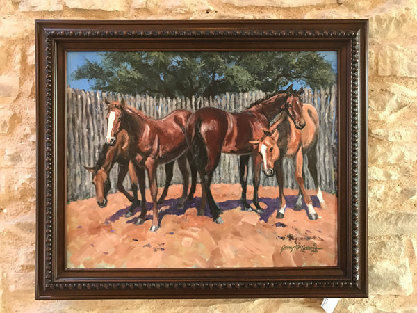 Four Yearling In A Pen- Jerry McAdams