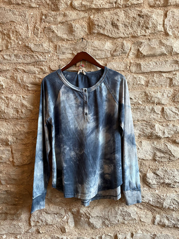 Denim Tie Dye Top