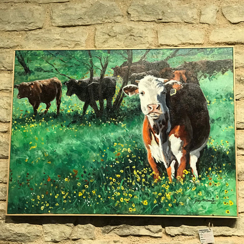 """ High Headed Heifer in Flowers"" - Jerry McAdams"