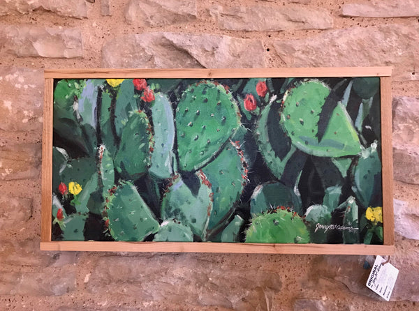 """Red & Yellow Cactus Blooms""- Jerry McAdams"