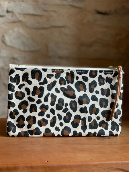 Hand Painted Pouch (Cheetah)