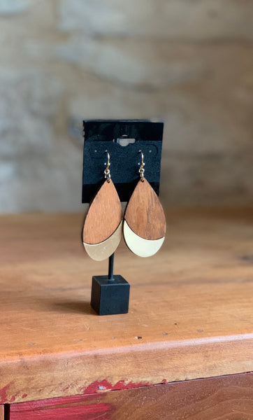 Wooden Accent Earrings