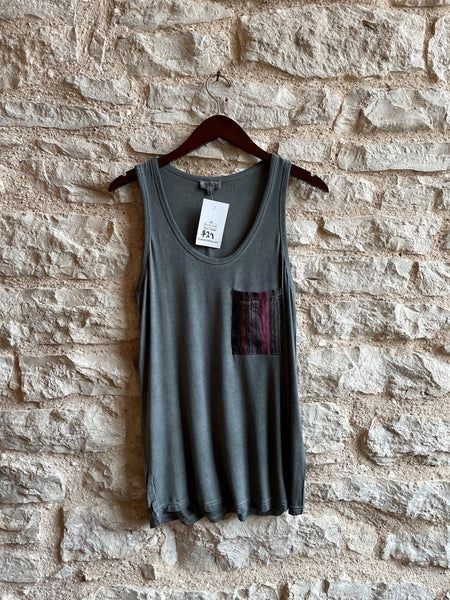 Charcoal and Brick Red Tank Tops