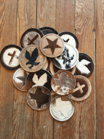 Assorted Cowhide Coasters