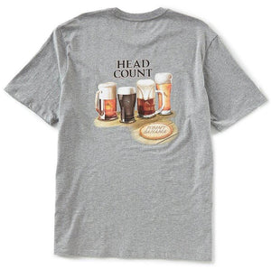 Tommy Bahama Head Count Short-Sleeve Graphic Tee - Grey Heather
