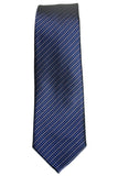 John Varvatos Skinny Striped Silk Necktie