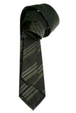 John Varvatos Brown Stripe Silk Blend Necktie