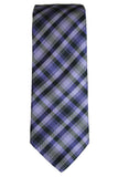 Ted Baker Tonal Purple Plaid Silk Necktie