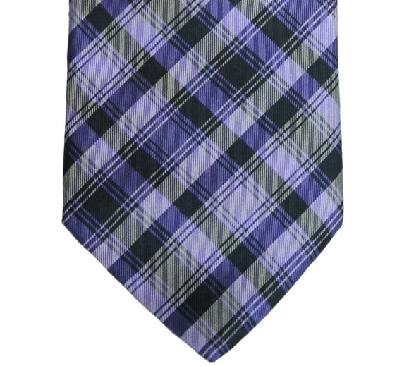 Ted Baker Tonal Purple Plaid Silk Tie