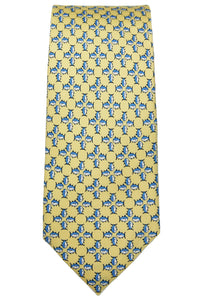 Southern Tide Yellow Skipjack Mosaic Silk Tie