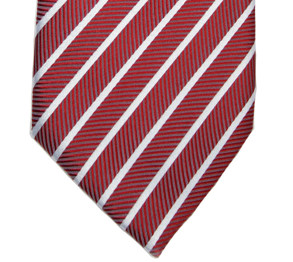 Haines & Bonner Red Stripe Silk Necktie