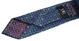 XMI Blue Floral Medallion Silk Tie