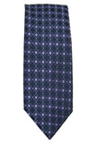 Jones New York Navy and Purple Dotted Silk Necktie