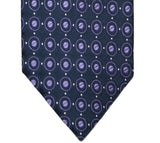 Jones New York Navy and Purple Dotted Silk Tie