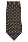 Bruno Piattelli Brown Dotted Silk Necktie