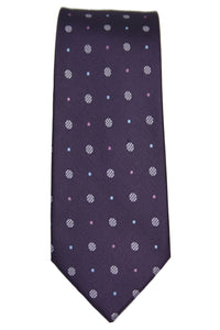 Jones New York Purple Dotted Silk Tie