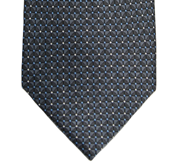 Jones New York Gray Geometric Silk Tie