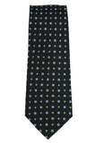English Laundry Black Geometric Silk Necktie