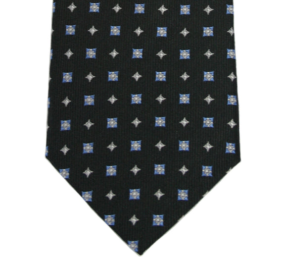 English Laundry Black Geometric Silk Tie