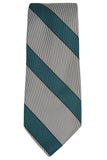 Nicky Green and Gray Stripe Silk Necktie