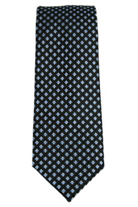 Michael Kors Black/Blue Geometric Grid Tie