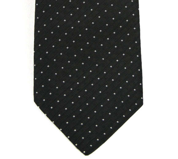 Corneliani Black Micro-Dot Silk Necktie