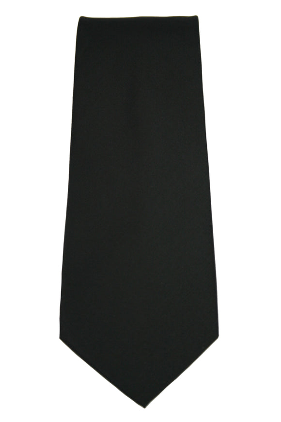 Kenneth Cole Solid Black Silk Necktie
