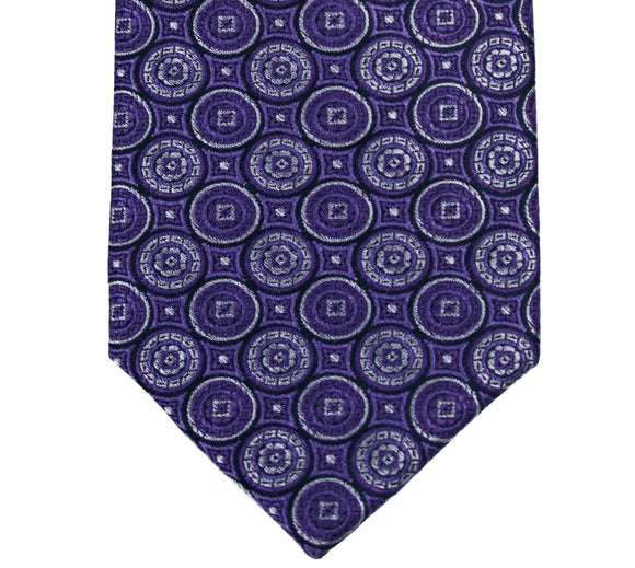 Haines & Bonner Purple Medallion Tie