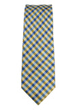 Haines & Bonner Yellow/Blue Plaid Silk Necktie