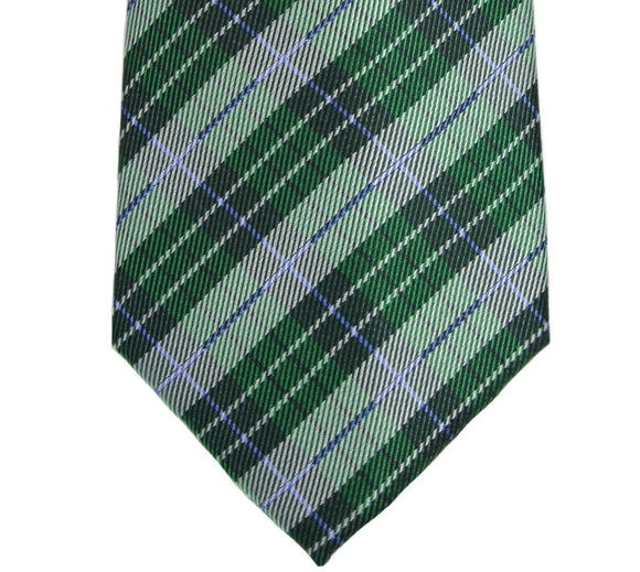 Haines & Bonner Green Plaid Silk Necktie