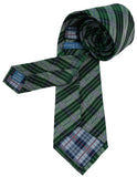 Haines & Bonner Green Plaid Silk Tie