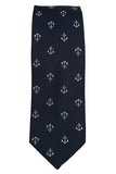 Haines & Bonner Navy Nautical Silk Necktie