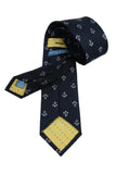 Haines & Bonner Navy Nautical Silk Tie