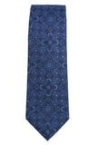 Tallia Ornate Navy Tonal Silk Necktie