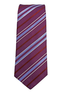 Hugo Boss Purple Stripe Silk Tie