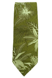 Tommy Bahama Green Tropical Cotton Necktie