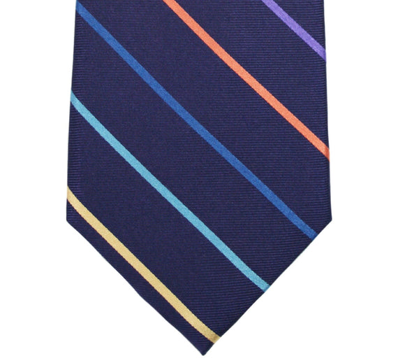 Tallia Purple Stripe Silk Tie