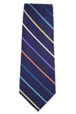 Tallia Purple Stripe Silk Necktie