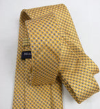 Beau Brummel Yellow Boxed Silk Necktie