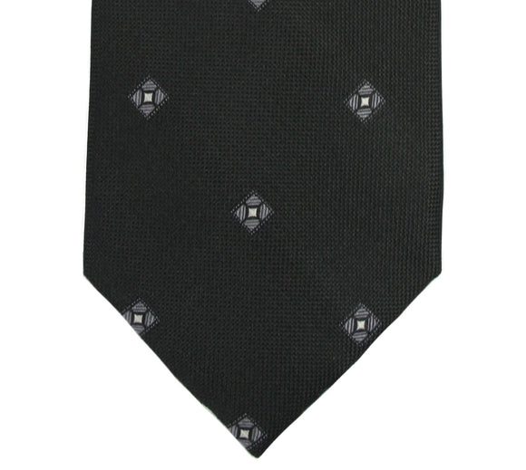 Michael Kors Black Geometric Silk Tie